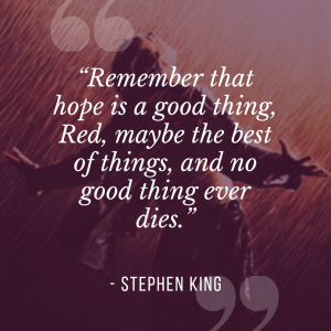 Stephen king quote from Shawshank Redemption